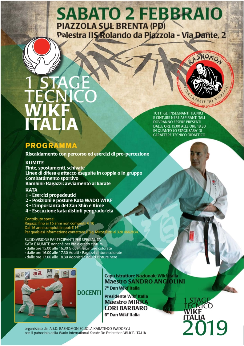 1 Stage Wikf 2019 Piazzola sul Brenta 02.02.2019 2